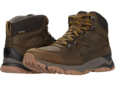 KEEN Innate Leather Mid Waterproof (Black Olive/Sunflower) Men