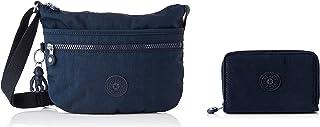 Kipling Unisex-Adult ARTO S Crossbody, Blue Bleu 2, 3x25x21 cm + WALLETS MONEY LOVE Blue Bleu 2