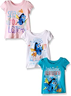 Disney Little Girls' Finding Dory Puff-Sleeved 3-pack T-Shirt