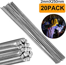 Aluminum Welding Rods, EEEKit 20-Pack Universal Low Temperature Aluminum Welding Cored Wire for Electric Power, Chemistry, Food, Silver 2mm250mm