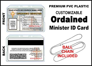 minister license cards