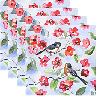 Benson Mills Cork Placemats Songbirds Set of 4 13.75 in. x 13.75 in.Square