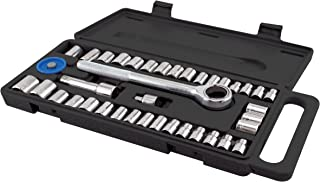 GreatNeck PSO40H Ratchet and Socket Set with Handle, 40-Piece
