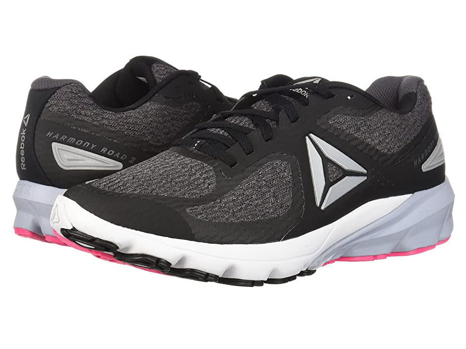 Reebok Harmony Road 2 (Black/Ash Grey/White/Solid Pink) Women