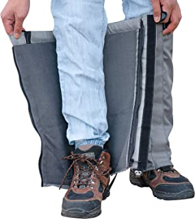 Snow Gaiters - Winter Gaiters - Mountain Gaiters - Water Resistant and Fleece Lined Snow Boot Gaiters