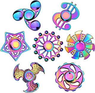 Rainwbow Fidgets Spinners Fidget Toys Set Finger Hand Spinner Metal Fidget Chain Cube Kit Focus Autism Toy Fingertip Gyro ...