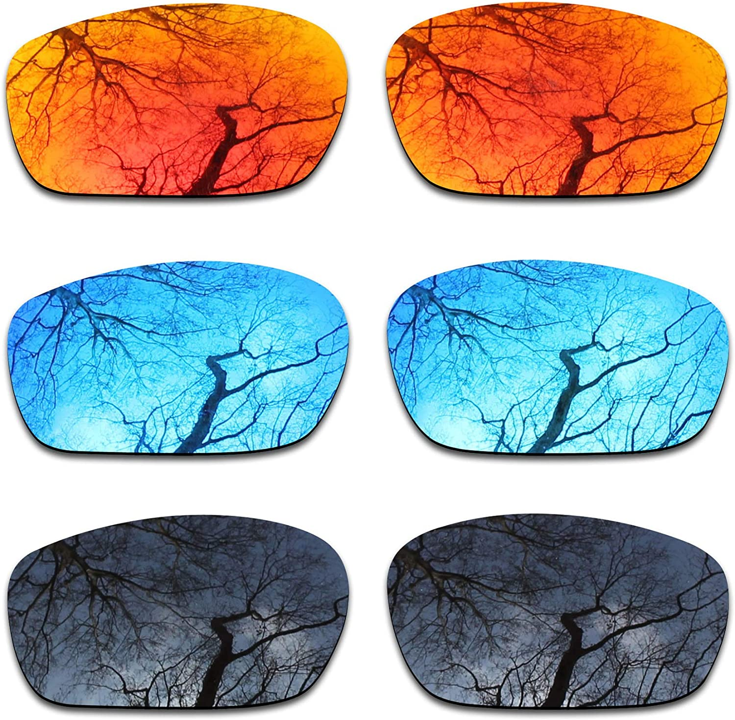 Max 81% OFF Los Angeles Mall ToughAsNails 3 Pair Polarized Replacement Oakley Jawb for Lenses