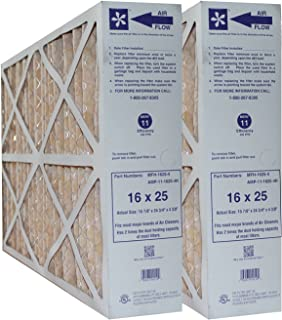 """Electro Air 16X25X4 MERV 11 Replacement Furnace Filters for Honeywell FC100A1029 (Actual Size: 15-7/8"""" x 24-3/4"""" x 4-3/8"""")..."""