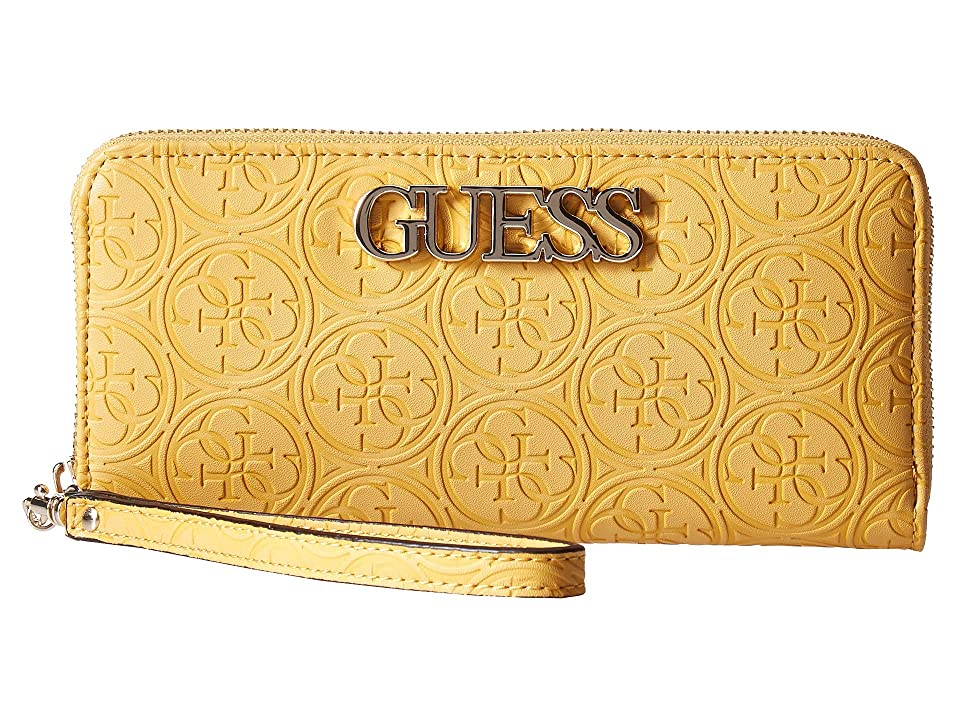 GUESS Heritage Pop SLG Large Zip Around (Marigold) Wallet