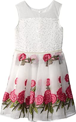 Nanette Lepore Kids Embroidered Organza Dress (Little Kids/Big Kids)