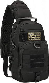 Mochila táctica militar MOLLE Crossbody Packs pecho hombro mochila EDC pañales mochila escolar mochila moto bicicleta (par...