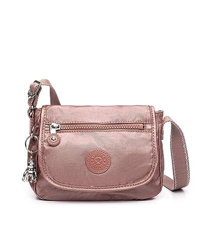 Kipling Sabian Crossbody Mini Bag (Metallic Rust) Handbags