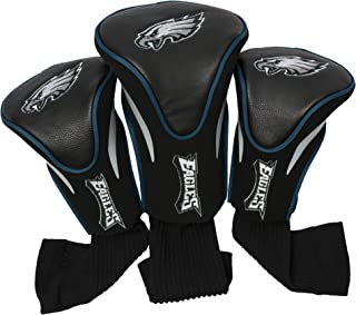 Team Golf NFL Contour Golf Club Headcovers (3 Count), Numbered 1, 3, & X, Fits Oversized Drivers, Utility, Rescue & Fairway Clubs, Velour lined for Extra Club Protection