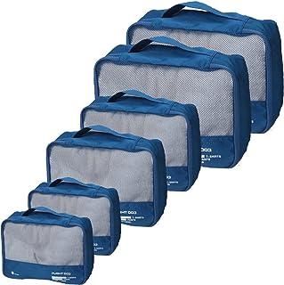 أفضل صناديق التعبئة مجموعة حقائب السفر منظم الأمتعة حقيبة اكسسوارات السفر, , 【24-inch】Navy Blue - 729910105932