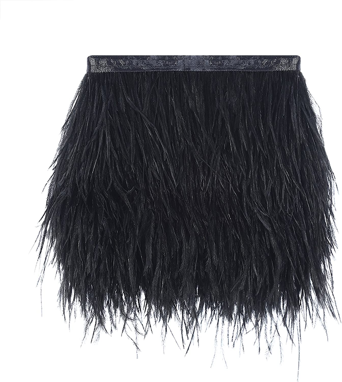 AWAYTR Ostrich Feather Trim Fringe - Satin New arrival Ribbon C Award Dress Sewing