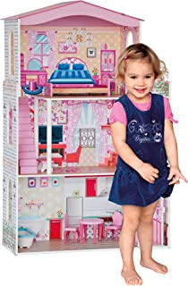 woodyland Doll House Set Pretend Play (7-Piece, Multi-Colour)