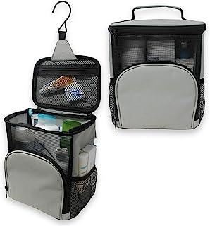 TERRA Home Hanging Shower Bag - Large Capacity Quick Dry Mildew Resistant with Metal Hook - College Dorm Room Essentials -...