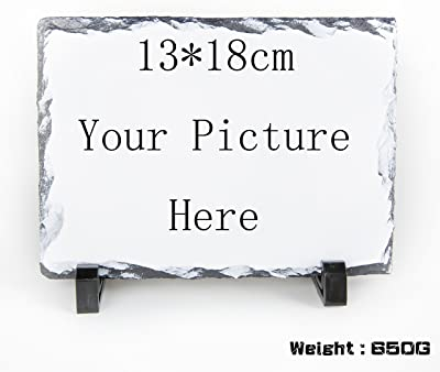 Amazon.com: Placa de pizarra rectangular para fotos ...