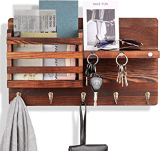 Amazon Com Wood Key Hooks Home Storage Hooks Home Kitchen