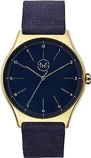 slim made one 10 - Elegant thin unisex watch in gold / blue