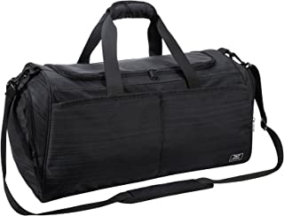 MIER Gym Bag for Women and Men Sports Duffle with Shoe Compartment, 21 Inches, Black