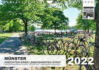 MÜNSTER :: Ansichten einer lebenswerten Stadt (Wandkalender 2022 DIN A4 quer): In diesem 14-seitigen Münster-Foto Monatska...