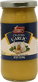 Lieber's Crushed Garlic, Kosher For Passover, 12 Ounce Jar