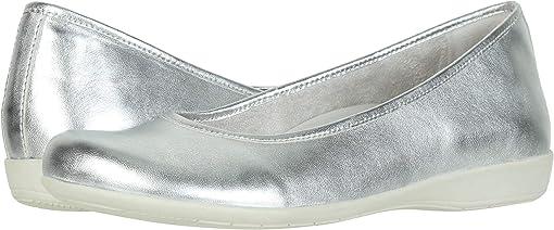 Light Silver Metallic Sheep Nappa
