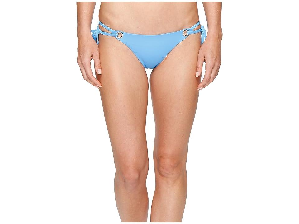 Mara Hoffman Solid Grommet Tie Side Bottom (Periwinkle) Women