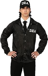 Adult DEA Agent Costume DEA Jacket Hat Costume for Adults