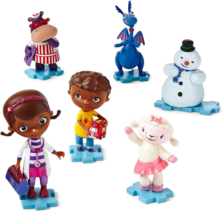 Obtén lo ultimo Disney Doc McStuffins 6 Piece Figura Set Figurine Figurine Figurine Jugarset Girls  hasta un 70% de descuento