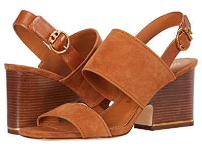 Tory Burch Selby 75 mm Block Heel Sandal (Ambra/Ambra/Ambra) Women