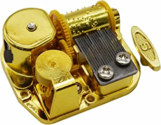 MAYMII Gold Plating 18 Note Musical Movement Music Box DIY-Different Tunes Available (Tune is You Are My Sunshine)
