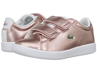 Lacoste Kids Carnaby Evo HL (Toddler/Little Kid) (Pink/White) Kids Shoes