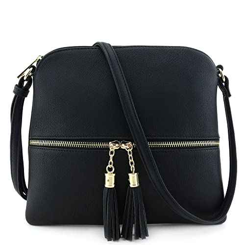 Lightweight Medium Crossbody Bag with Tassel aaa00a1967fbe