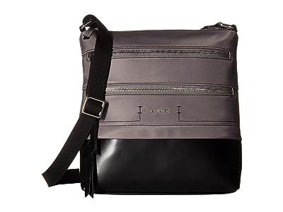 Lodis Accessories Nylon Sports Wanda Travel Crossbody (Grey) Cross Body Handbags