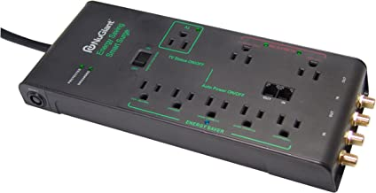 ProHT 8 Outlet Surge Protector Power Strip/Extended Cord 6 ft (31002), 3600 Joules w/ 4 Coaxial /2 Phone Jack Connector. Smart Energy Saving Surge Protector. LED Indicators, Black