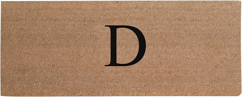A1 HOME COLLECTIONS First Impression A1HC Plain Coir Doormat, Monogrammed-D, 20 x48 (A1HOME200021-2-D)