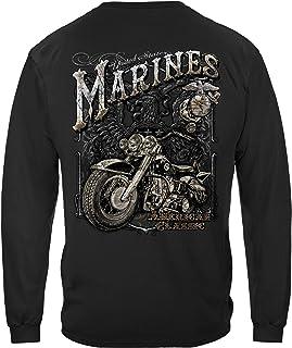 Erazor Bits Marine Corps T-Shirt USMC Marine Biker American Clasic T-Shirt MM2143