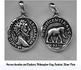 Golden Artifacts Marcus Aurelius, Philosopher King, Roman Coins, Pendant, Roman Empiret (26P-S)