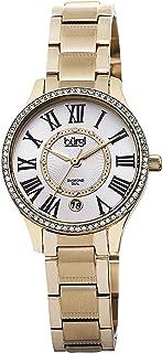 Burgi Women's BUR090YG Diamond Dial Gold-tone Stainless Steel Bracelet Watch