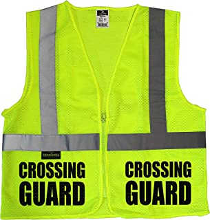 Conspiracy Tee Crossing Guard Mesh Vest, Traffic Safety Vest, School Safety, Municipal Safety