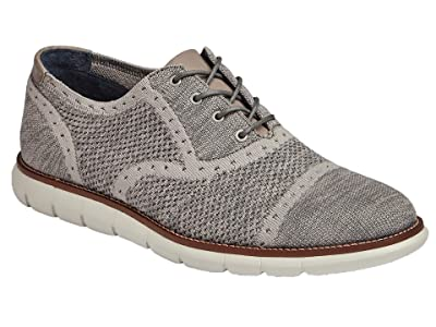 Johnston & Murphy Milson Knit Cap Toe (Light Gray Knit) Men