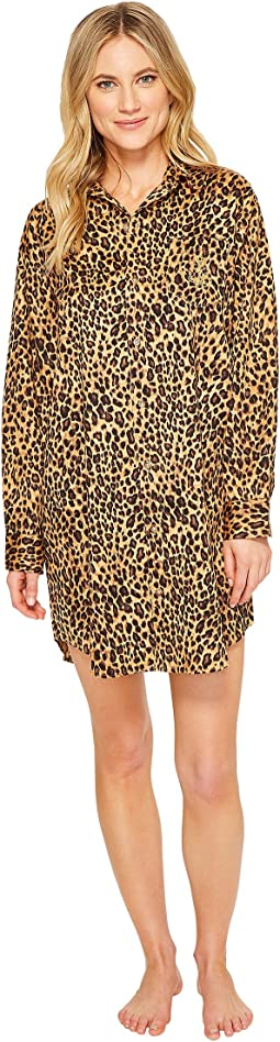 LAUREN Ralph Lauren - Sateen Leopard Sleepshirt