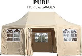 Pure Home & Garden Luxus Pavillon Celebration, UV-Schutz 50 Plus, inkl. Aller Seitenteile, 550 x 400 cm, Dachhöhe verstellbar