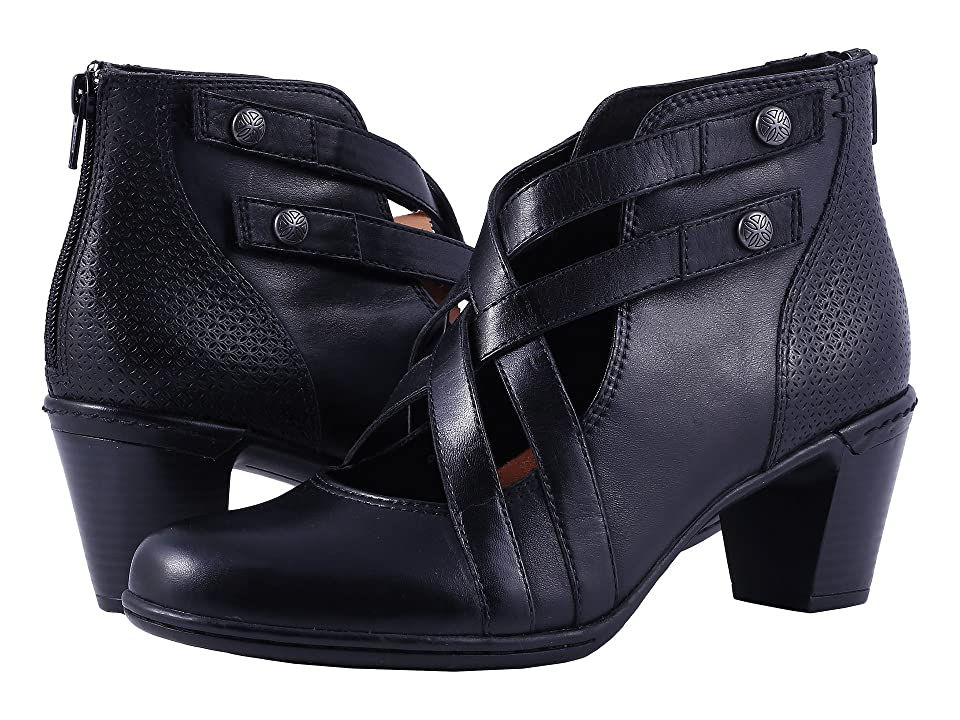 Rockport Cobb Hill Collection Cobb Hill Rashel X-Strap (Black Leather) Women