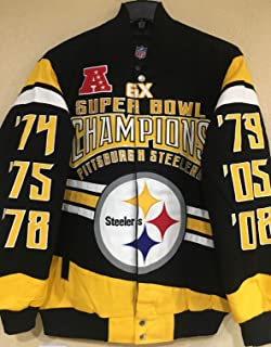 Extreme Pittsburgh Steelers Gladiator 6 Time Super Bowl Champions Cotton  Twill Jacket 9dba41ac7