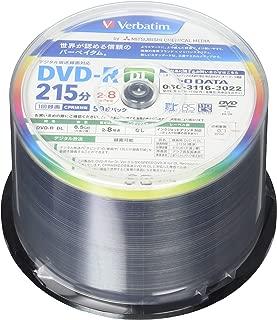 Verbatim バーベイタム 1回録画用 DVD-R DL CPRM 215分 50枚 片面2層 2-8倍速 VHR21HP50V1FFP [フラストレーションフリーパッケージ(FFP)]