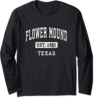 Flower Mound Texas TX Vintage Established Sports Design Long Sleeve T-Shirt