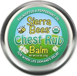 Sierra Bees Chest Rub Balm, Eucalyptus & Peppermint, 0.6 oz (17 g)